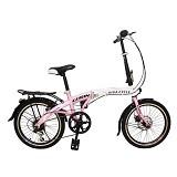 """VIVA Gorin 20"""" Shimano 7sp [L3110] - Fuschia - Sepeda Lipat / Folding Bike"""